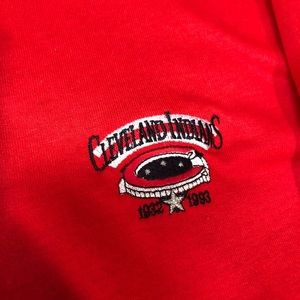 Other - Cleveland Indians VTG 199 Long Sleeve Polo Shirt